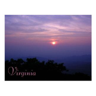 Postal de Shenandoah Valley de Virginia