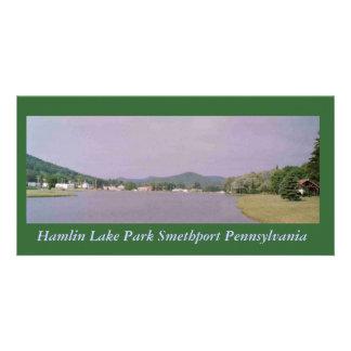 Postal de Smethport del parque del lago Hamlin Tarjeta Fotográfica