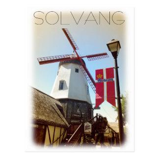 ¡Postal de Solvang del estilo del vintage! Postales