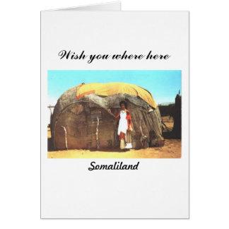 Postal de Somalilandia Tarjetón