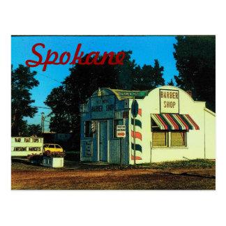 Postal de Spokane (barbería)