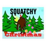 Postal de Squatch del navidad de Squatchy