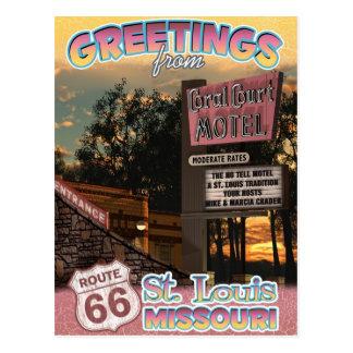 Postal de St. Louis Missouri de los saludos de la