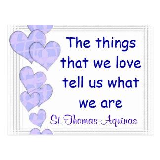 Postal de St Thomas Aquinas