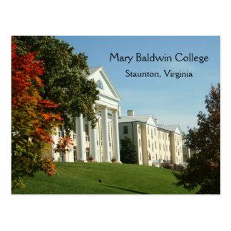 Postal de Staunton VA Virginia de la universidad d