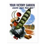 """Postal de """"su jardín de victoria"""""""