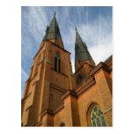 Postal de Suecia de la catedral de Uppsala