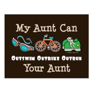 Postal de tía Outswim Outbike Outrun Triathlon
