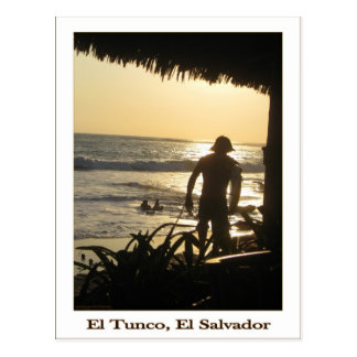 Postal de Tunco - el practicar surf que va