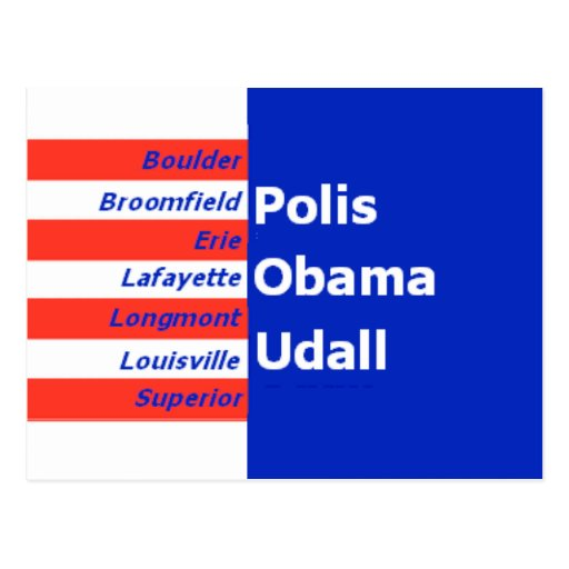 Postal de Udall Obama Polis