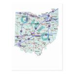 Postal de un estado a otro del mapa de Ohio