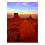 postal de Utah del valle del monumento