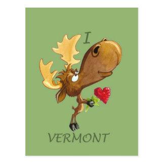Postal de Vermont de los corazones de Kirby
