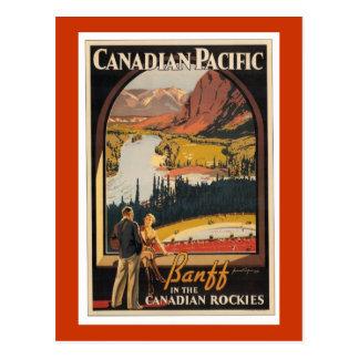 Postal de Vert del poster del viaje de Rockies del