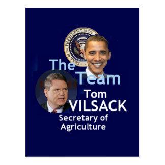 Postal de Vilsack del equipo