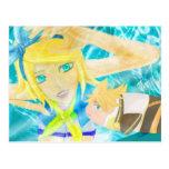 Postal de Vocaloid Rin-Ren