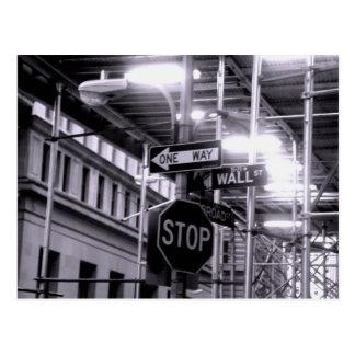Postal de Wall Street