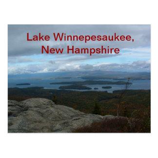 Postal de Winnepesaukee del lago