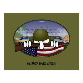 Postal de WW2 Kilroy