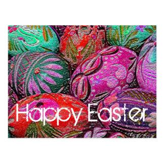 Postal decorativa de los huevos de Pascua