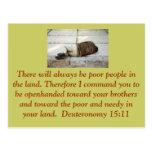 Postal del 15:11 de Deuteronomy