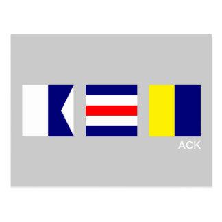 Postal del ACK Nantucket de la bandera de señal ná