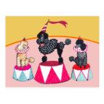 Postal del acto de circo de las hermanas del canic