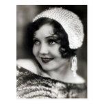 Postal del actor de cine de los años 30 del vintag
