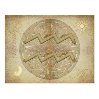 Postal del acuario de la muestra del zodiaco