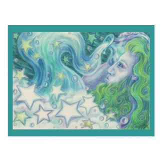 Postal del acuario del zodiaco