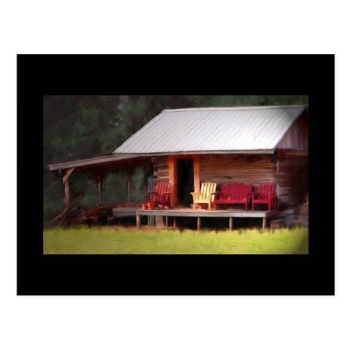 Postal del Adirondacks de la cabina
