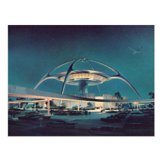 Postal del aeropuerto de LAX Los Ángeles del vinta