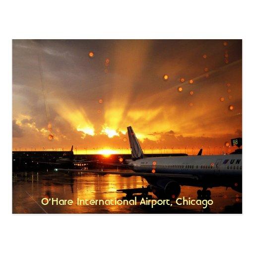 Postal del aeropuerto internacional de ÓHarez (Chi