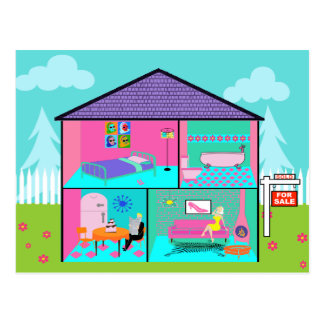 Postal del agente inmobiliario de la casa ideal