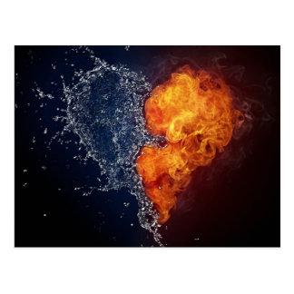 Postal del agua y del fuego