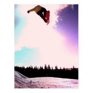 Postal del aire de la snowboard