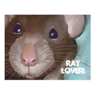 Postal del amante de la rata