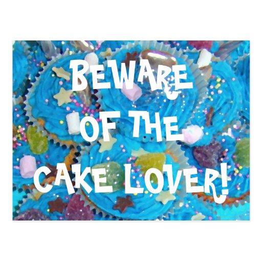 Postal del amante de la torta de las magdalenas az