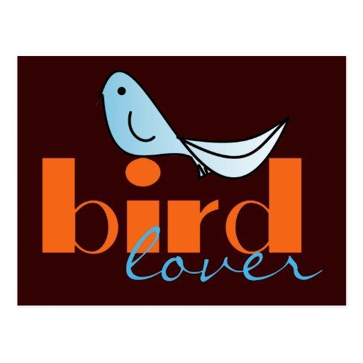 Postal del amante del pájaro