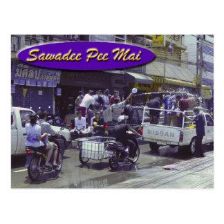 Postal del AMI-Songkran del pis de Sawadee