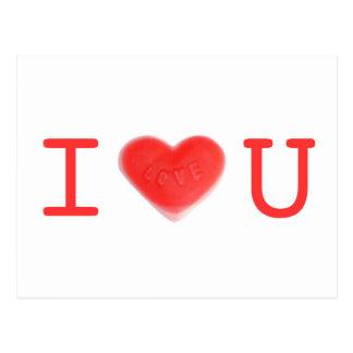 """Postal del amor """"amo U"""""""