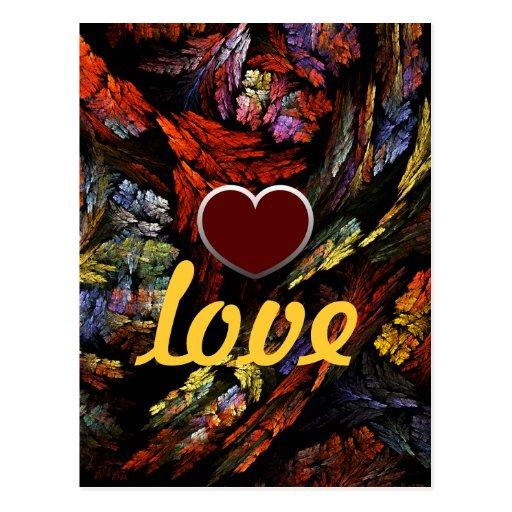 Postal del amor de la armonía del color