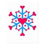 Postal del amor de la nieve