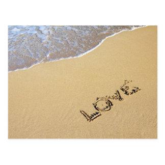 Postal del amor de la playa