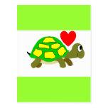 Postal del amor de la tortuga