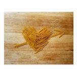 Postal del amor de los espaguetis