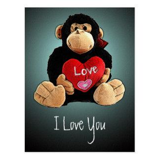 Postal del amor del mono