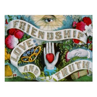 Postal del amor y de la verdad de la amistad