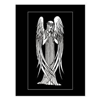 Postal del ángel de Beardsley Nouveau