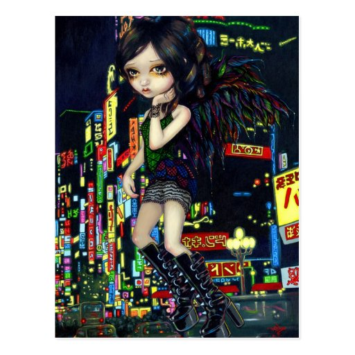 """Postal del ángel de Shinjuku"""